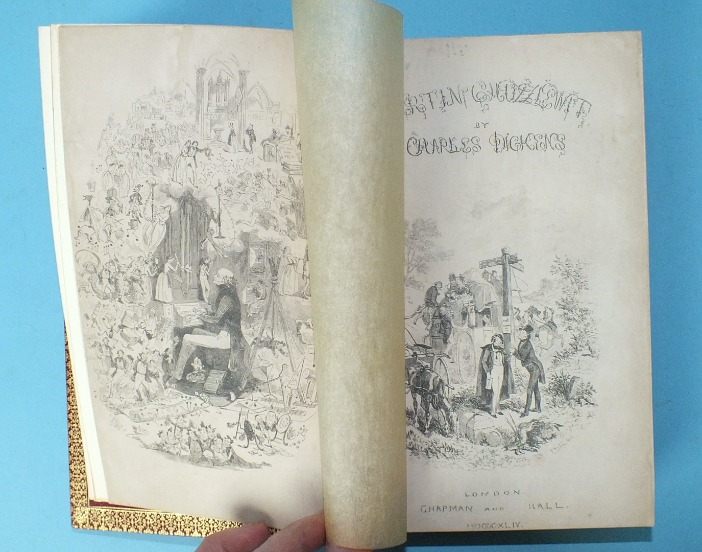 Lot 32 - Dickens (Charles), The Life and Adventures of Martin Chuzzlewit, 1st Edition, 1st Issue, (with
