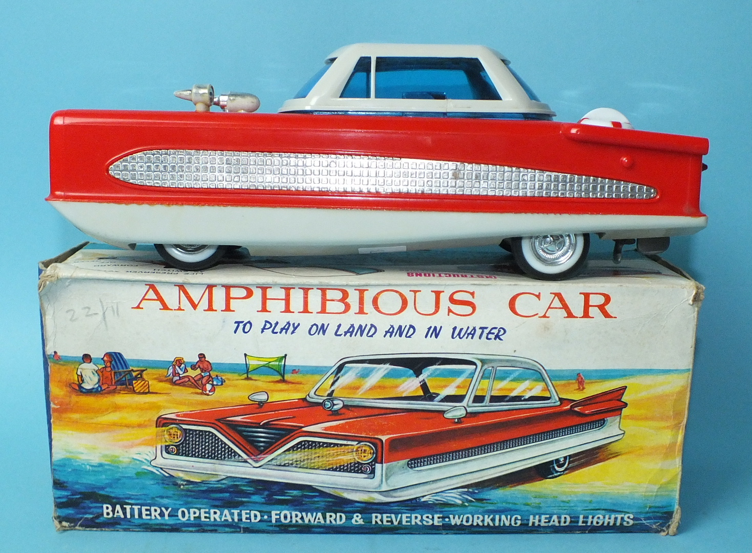 Lot 504 - A battery-operated Amphibious Car by H-I-S, Hong Kong, no.R3317, boxed.
