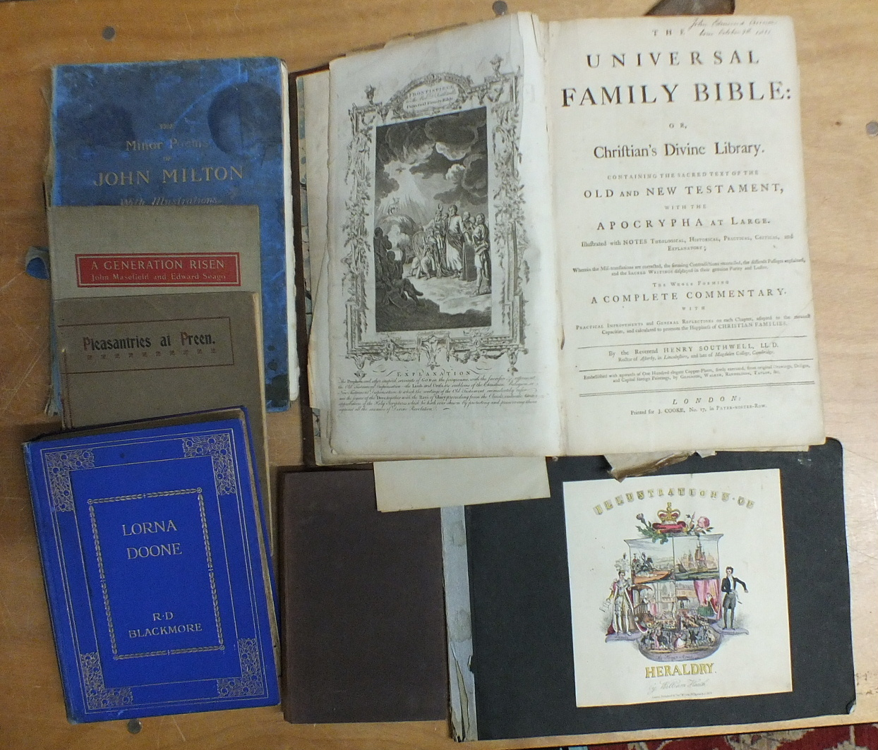 Lot 7 - The Universal Family Bible, ed: Rev Henry Southwell, printed for J Cooke, 17 Paternoster Row, engr