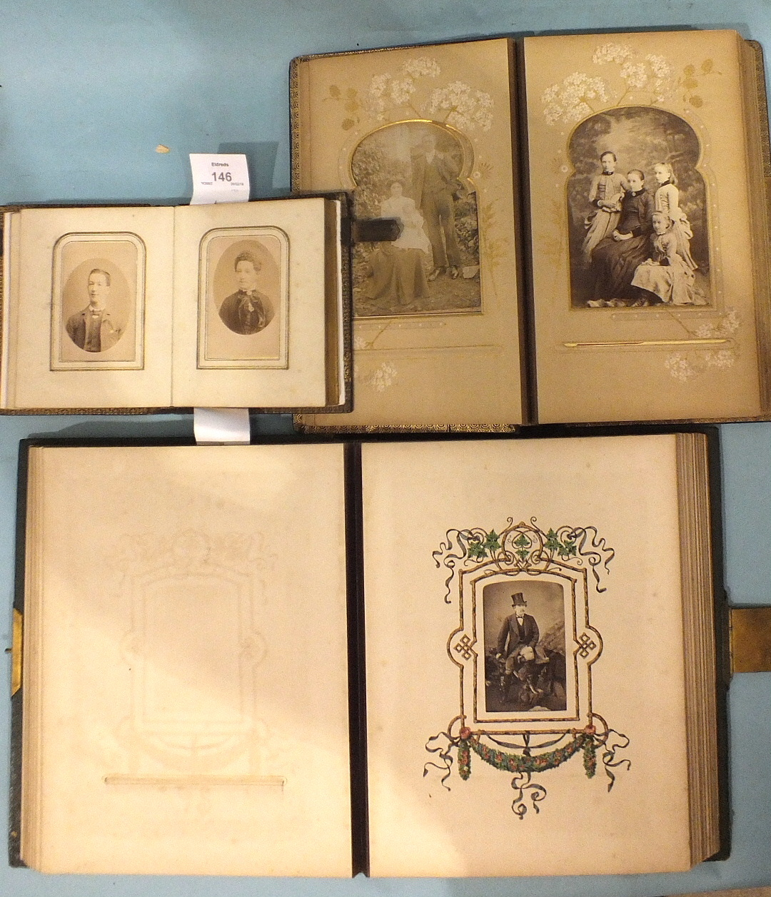 Lot 146 - Approximately 90 Victorian cabinet cards and cartes de visite, mainly by Hearn, Plymouth and other