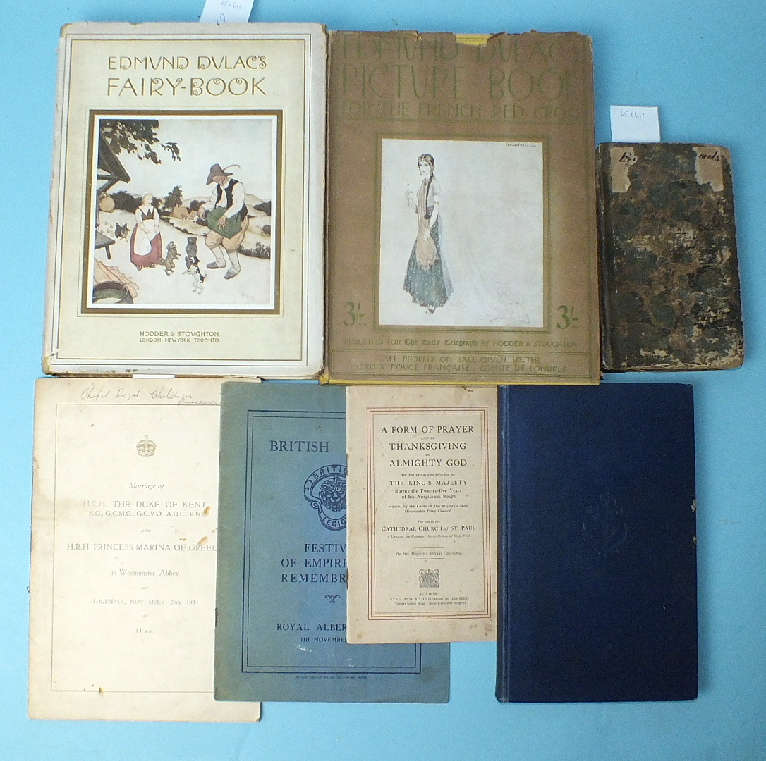 Lot 19 - Dulac (Edmund, Illustr.), Edmund Dulac's Fairy-Book, tipped-in col plts, dwrp, pic cl gt, 4to, nd: