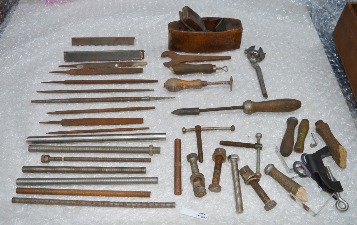 1 x assorted lot of vintage tools files rods and more includes more than 30 pieces including. Black Bedroom Furniture Sets. Home Design Ideas