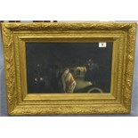 Lot 9 - Artist unknown, 1920's Dunlop advertising picture in heavy gilt frame 24cm x 38cm.