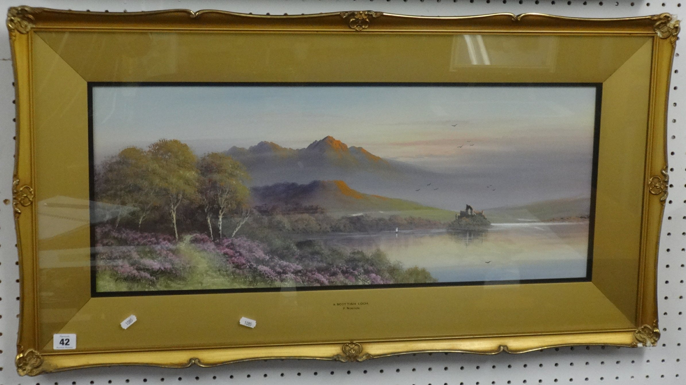 Lot 42 - P. Norton, early 20th century, a signed watercolour 'A Scottish Loch', titled to the mount, 30cm x