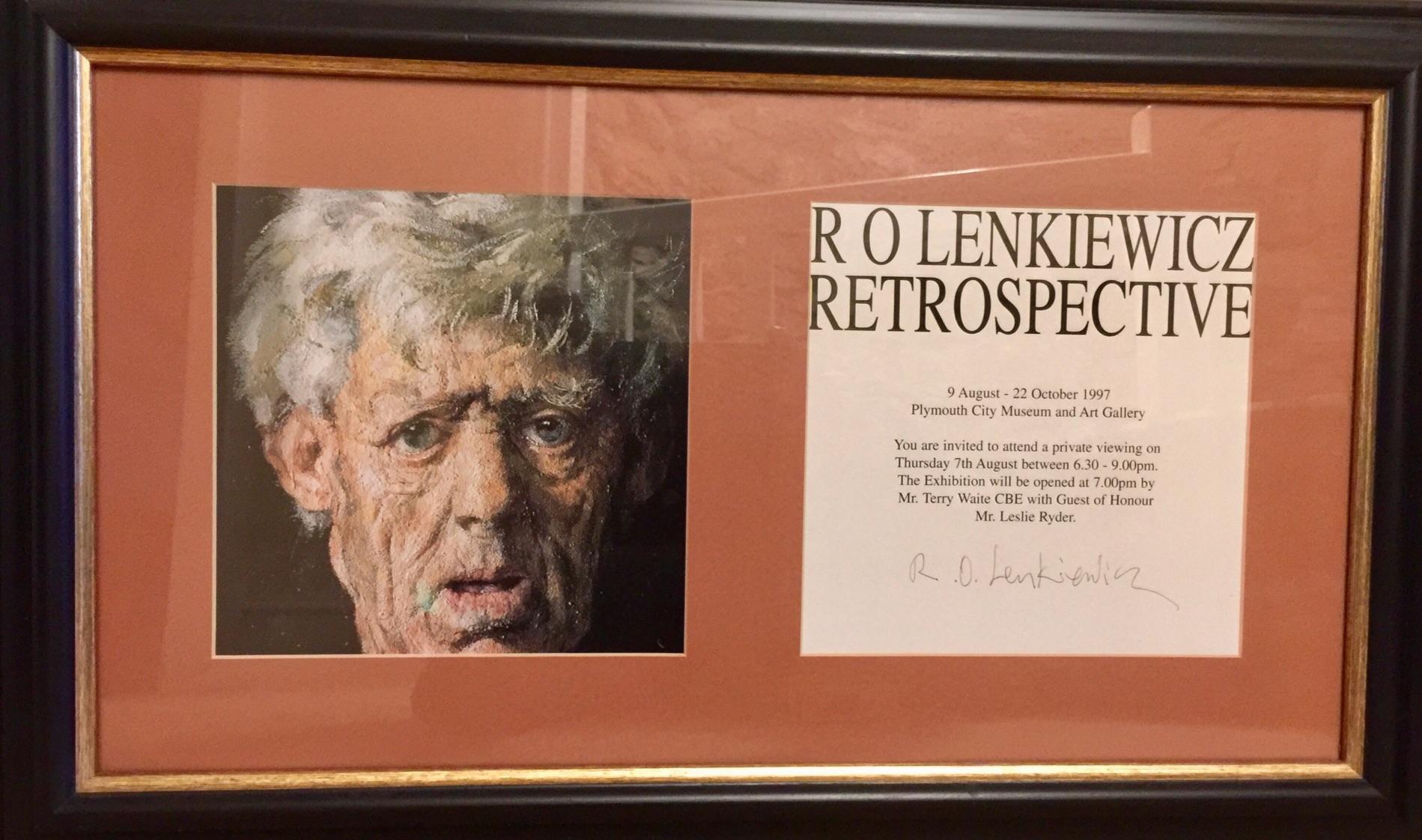 Lot 016 - Robert Lenkiewicz (1941-2002), print 'Snowy, Retrospective' (frame size 60cm x 38cm).