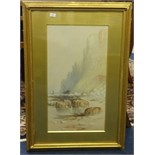 Lot 35 - L.Eamon? two watercolours, Shipwrecks, the largest 54cm x 30cm (2).