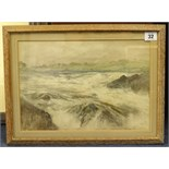 Lot 32 - Finlay Mackinnon, two signed watercolours, including Highland Scene, the largest 24cm x 33cm (2).