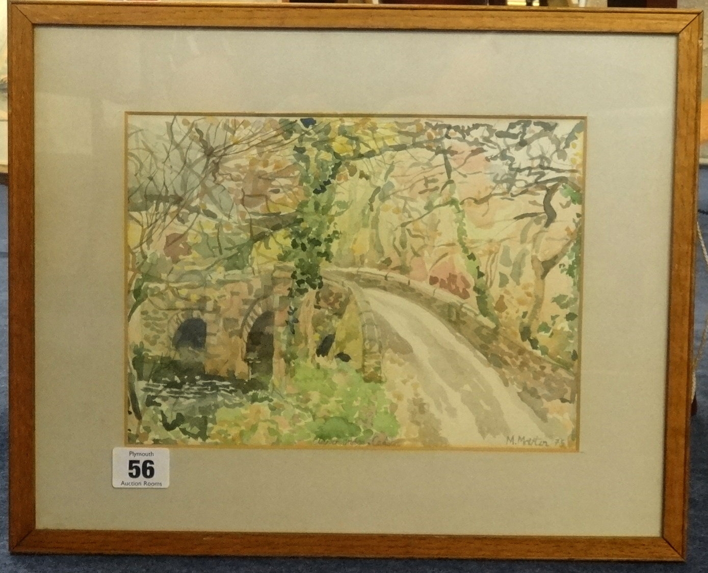 Lot 56 - Mary Martin (born 1951) signed watercolour, 1975, 'Tapper Bridge' near Callington, 18cm x 24cm.