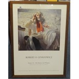 Lot 21 - Robert Lenkiewicz (1941-2002), signed poster Project 18 'The Painter with Women' 1994.