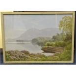 Lot 33 - J.W.Carey a pair of watercolours, 'Muckish, Donegal, Nr. Greenslough', 1931, largest 26cm x 37cm,