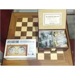 A Jaques, London '1795-1995 The Staunton Chess-Men, Bi-Centennial Edition', in fitted leather