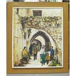 G Soden, 'Sidon (Lebanon), Busy street scene', signed oil on canvas, dated '70, 52 x 67cm and