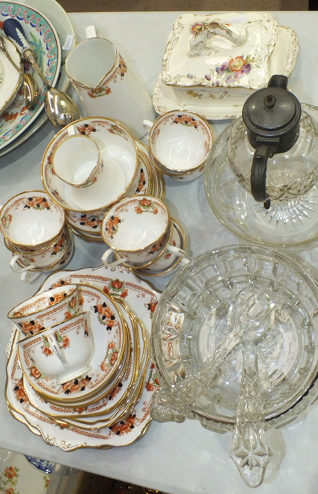 Lot 140 - Thirty-seven pieces of Royal Albert Crown China floral-decorated teaware, various other teaware,