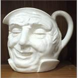 A Royal Doulton white-glazed character jug 'Farmer John', 15.5cm high.