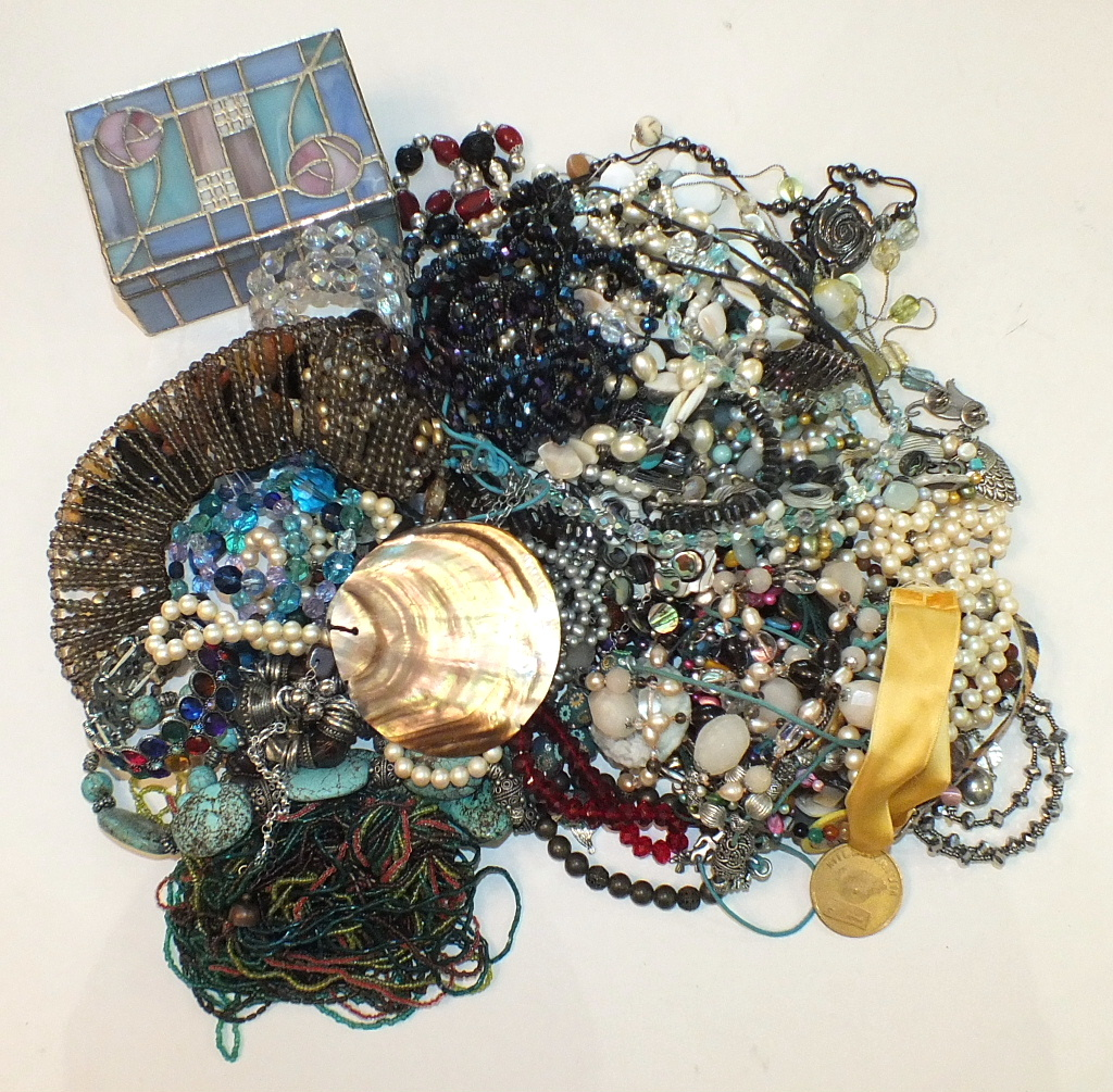 Lot 301 - A large quantity of costume jewellery.