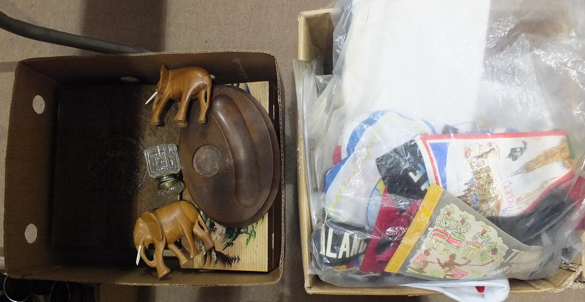 Lot 150 - A Victorian extending metal-mounted oak pair of book ends, a brass-bound walnut work box, various