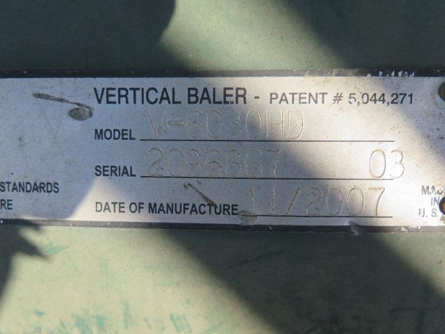 """Marathon mdl. V-6030HD 30"""" x 60"""" Hydraulic Baler s/n 2096867-03 - Image 4 of 4"""