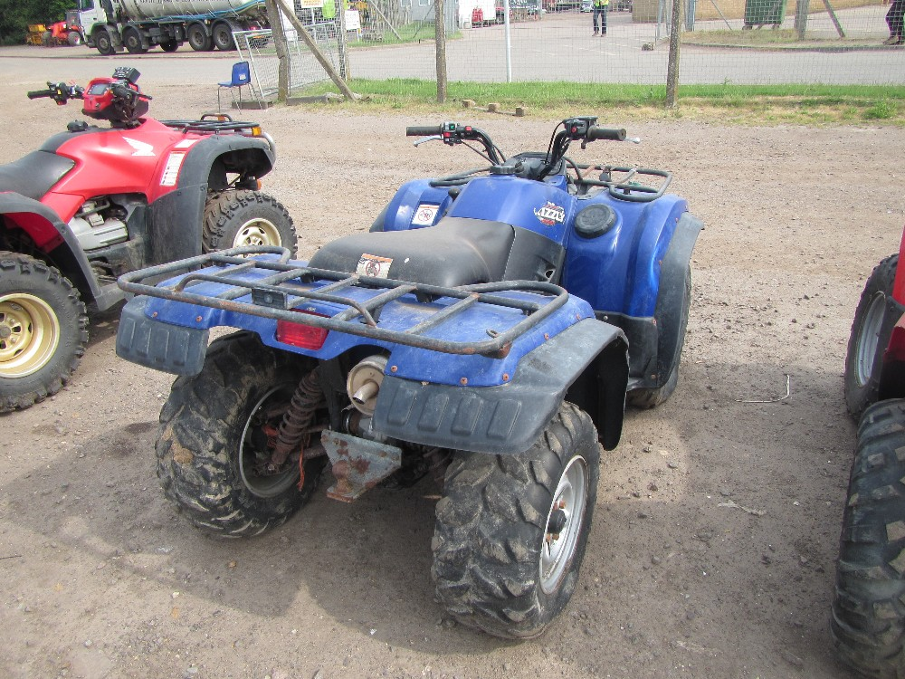 Yamaha grizzly 400 quad blue for Yamaha grizzly 400