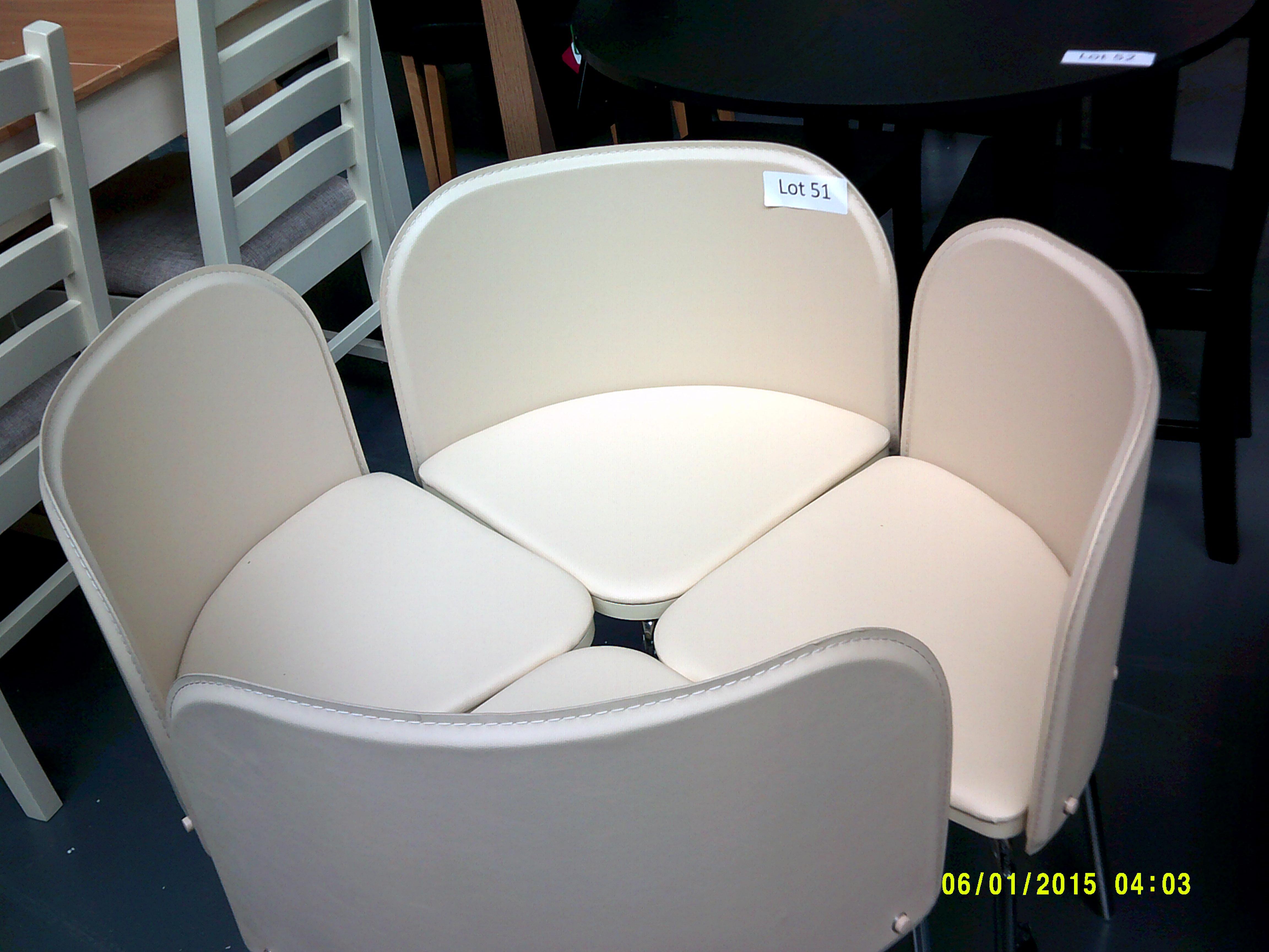 Lot 51 - 4 Cream Chairs Customer Returns