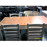 Dining Table with Storage & Four Chairs Customer Returns