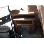 Nest of 3 Dark Wood Tables Customer Returns