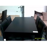 Black Dining Table & 4 Chairs Customer Returns