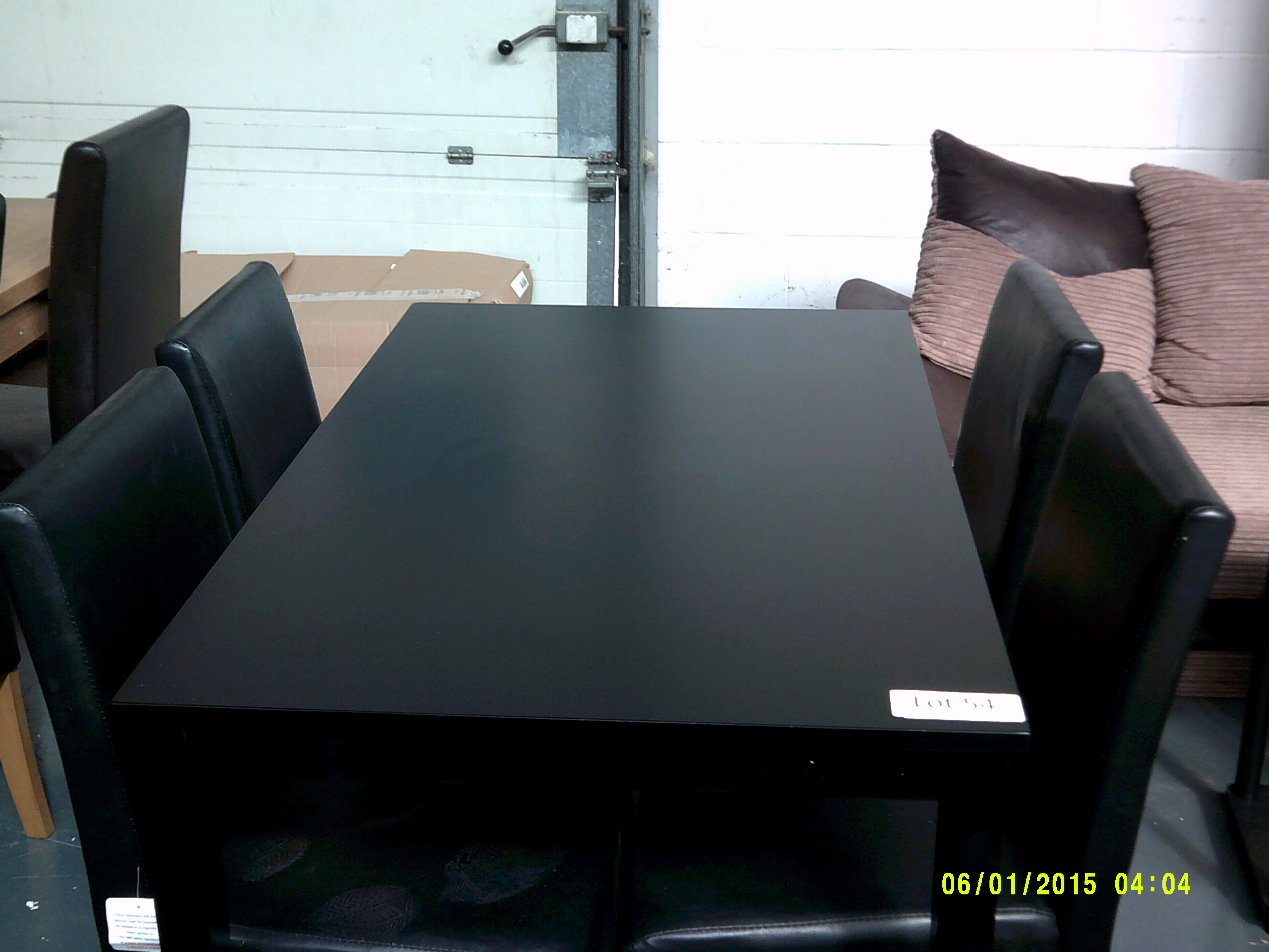 Lot 54 - Black Dining Table & 4 Chairs Customer Returns