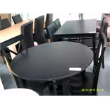 Dining Black Table and 2 Cross Black Chairs Customer Returns