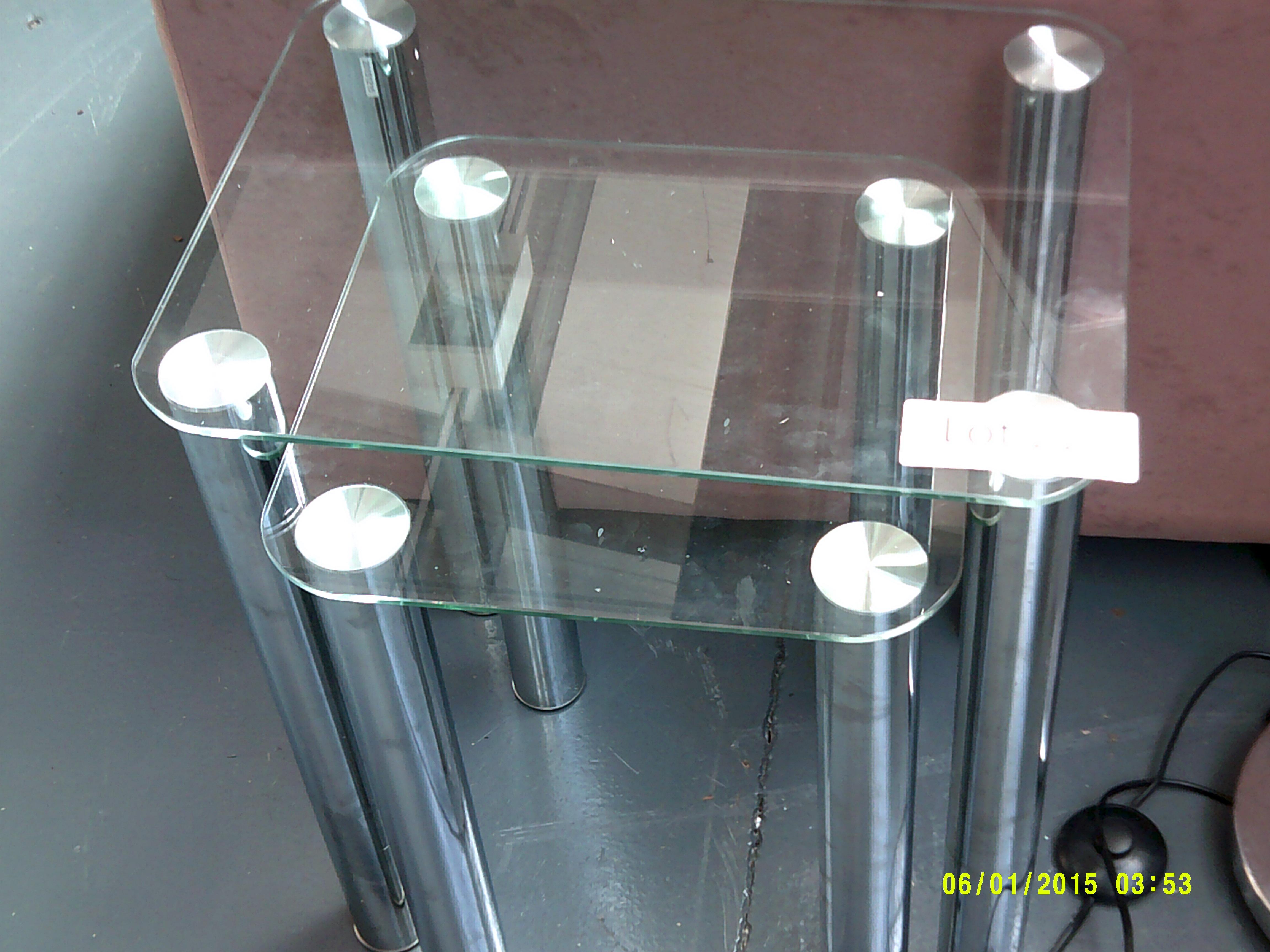 Lot 22 - Nest of 2 Glass Tables Customer Returns