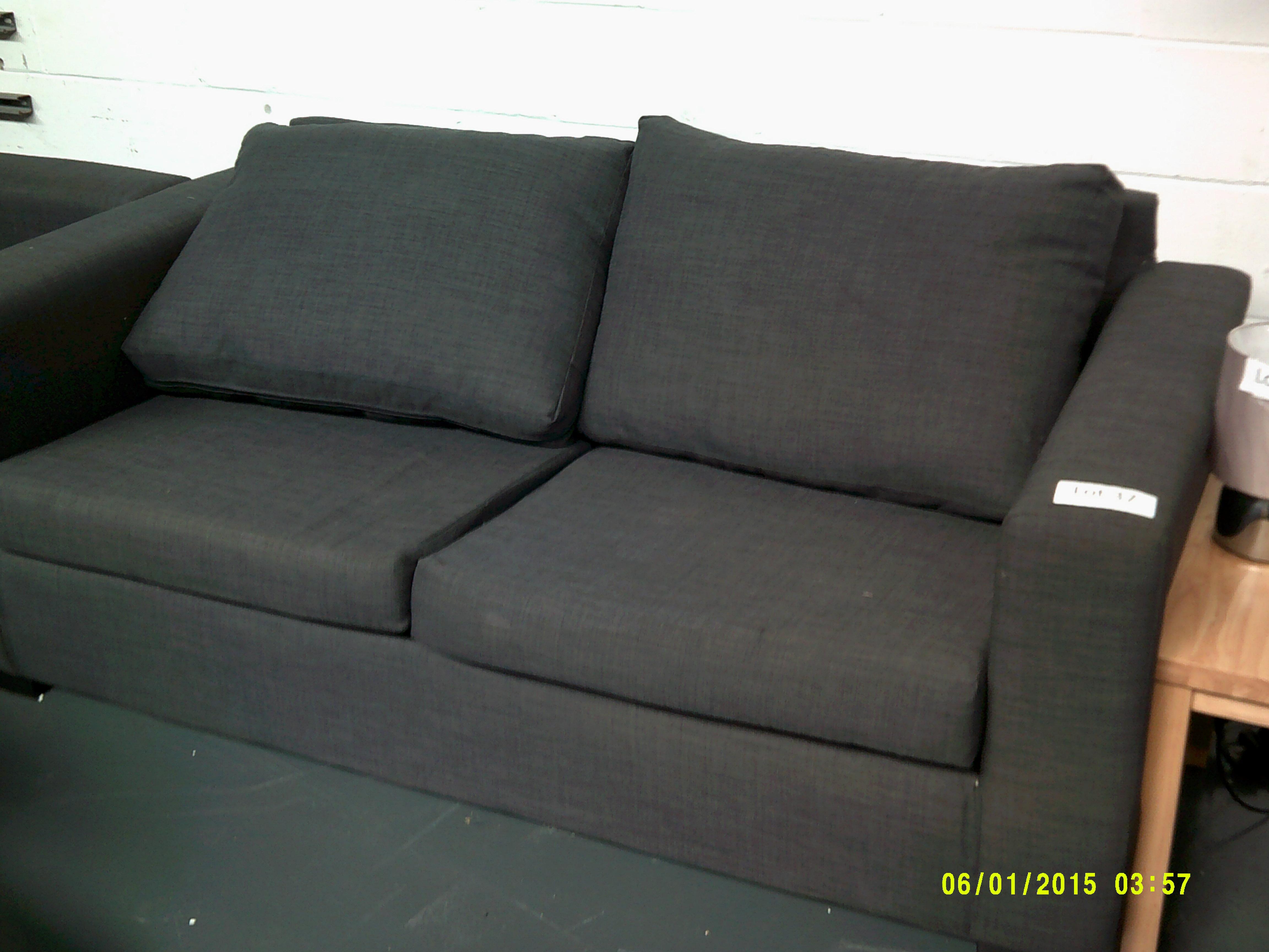 Lot 37 - 3 Seater Grey Sofa ORP £899 Customer Returns