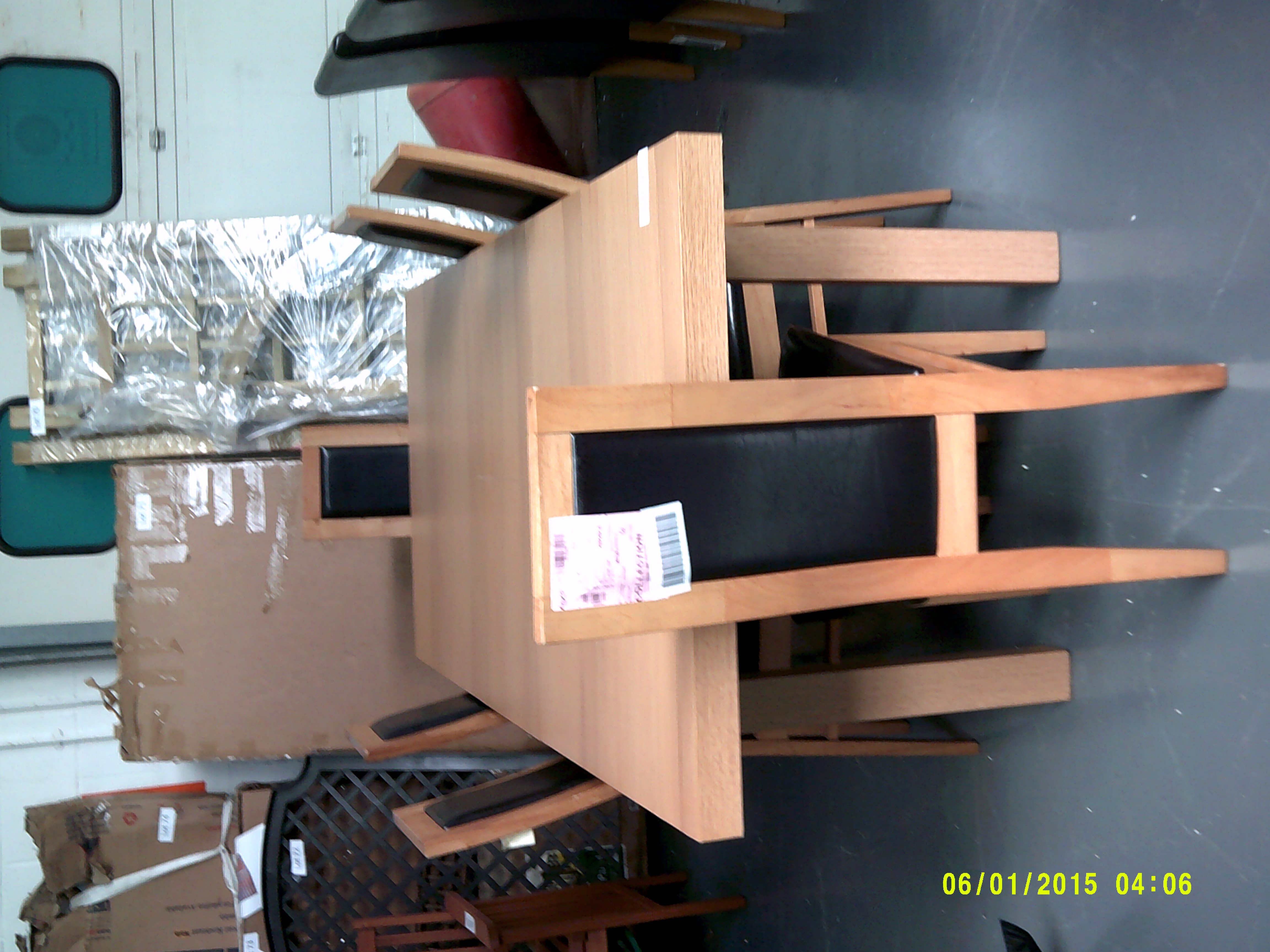 Lot 60 - Dining Table & 6 Chairs Customer Returns