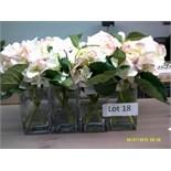 Decorative Artificial Flower Arrangement in Glass Vases Customer Returns
