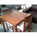 Small Dark Wood Table & 2 Chairs Customer Returns