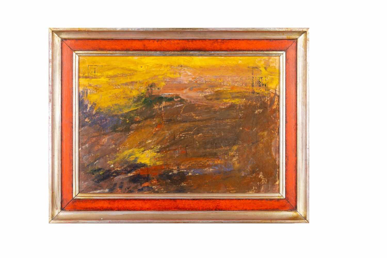 """Lot 92 - Leon Abramowicz, """"Abstrakte Landschaft""""Leo Abramowicz, 1889-1978 polnischer Maler (jüdischer"""