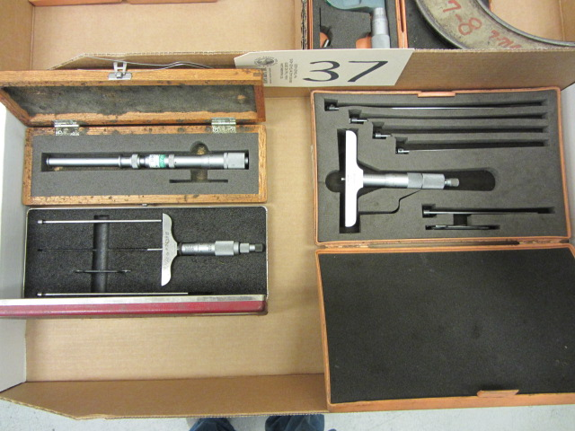 Lot 37 - Depth Gauges, Groove Micrometer