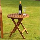 + VAT Brand New Teak Folding Side Table - Ebay Price £43.21
