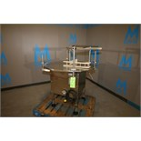 """Kiss Rotary All S/S Accumulation Table, M/N AT-42-L, S/N 4160, 43"""" Dia., 110 Volt, with Guide Bars"""