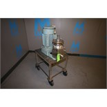"""Premier Mill Portable S/S Colloid Mill, Model KCD, S/N CL4 – 0042, 4"""", Mounted on S/S Skid with"""