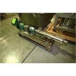 Moyno 2 HP Progressive Cavity Pump, Type 2FGJ4SSB, S/N AS82012-1, SEW 455/2275 RPM Motor, Clamp-Type