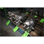 """WCB Positive Displacement Pump Heads, Size 30, S/N 84831 SS; 92615 SS; 84833 SS; 1 1/2"""" S/S Clamp"""