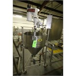 """Aprox. 80 Gal. S/S Jacketed Kettle, 29 1/2"""" Dia x 32"""" Deep, Cone-Bottom, Chemineer 0.5 hp Variable"""