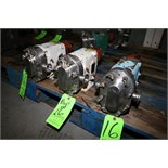 """WCB Positive Displacement Pump Heads, M/N 015, S/N 21263 SS; 250232-99; 114221; 1 1/2"""" S/S Clamp"""