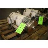 """Tri-Clover 7 1/2 HP Centrifugal Pump, M/N C216MD18TS, S/N W7287, 2"""" x 1 1/2"""" S/S Clamp Type Head,"""