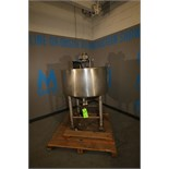 Chester-Jenson Aprox. 80 Gal S/S Jacketed Tank, S/N 9715-P, Cone-Bottom, On S/S Legs and Casters,