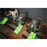 WCB Positive Displacement Pump Heads, M/N 006; (2) Size 15, S/N 250231-99; 10601 SS; 123723; 1 1/
