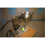 Osgood Single-Head Piston Filler, Mounted on S/S Skid with S/S Control Panel, Allen Bradley