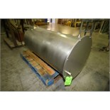 """Approx. 140 Gallon Flat-Top / Sloped-Bottom Jacketed S/S Holding Tank, Approx. Tank Dimensions 49"""" H"""