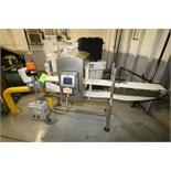"""Eriez Metal Detector, Model EZDSP, S/N148058, Mounted on 81"""" L x 7"""" W Conveyor with Leeson ½ HP"""
