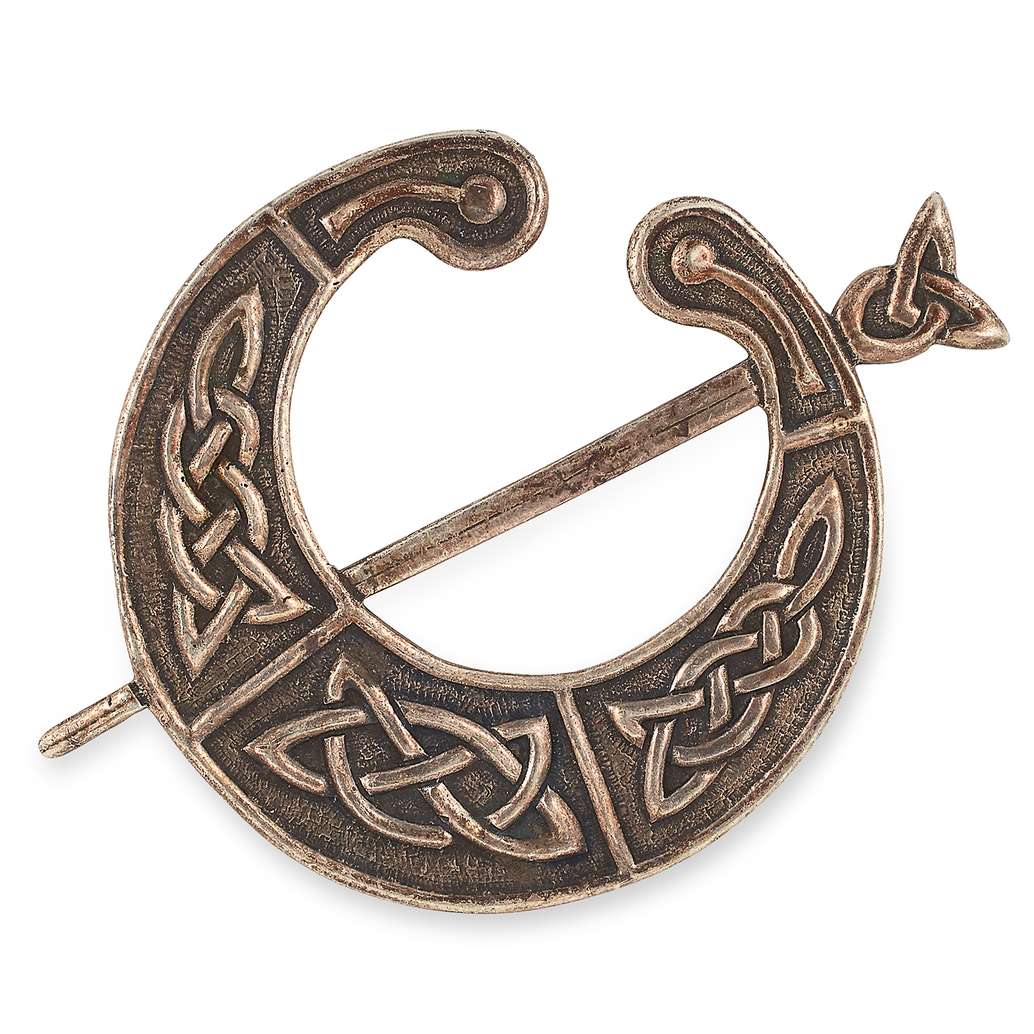 CELTIC STERLING SILVER BROOCH, IONA with Celtic motif, stamped Iona, 9cm, 29.3g.
