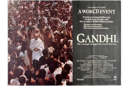 Original vintage movie poster for UK, USA, Indian drama Gandhi ...